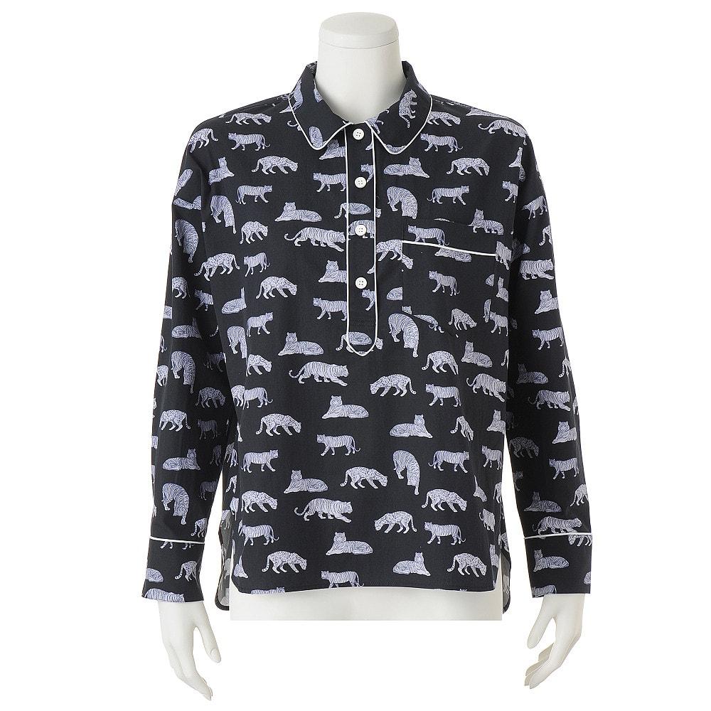 フランス素材 トラとヒョウのプリントシャツ