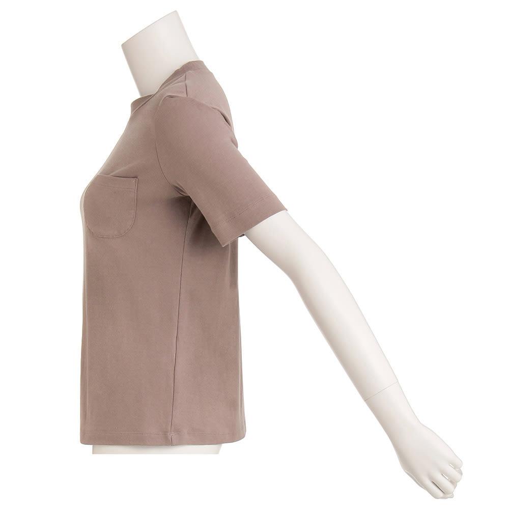 柔らかな肌触りのテンセルコットン クルーネックTシャツ(サイズS)