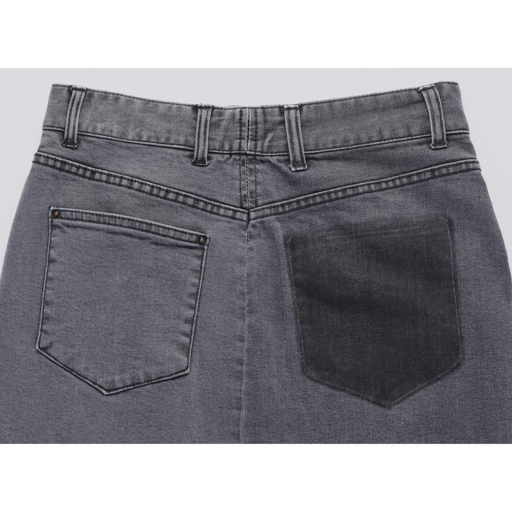 ツートーン ストレッチデニムスカート Back Style