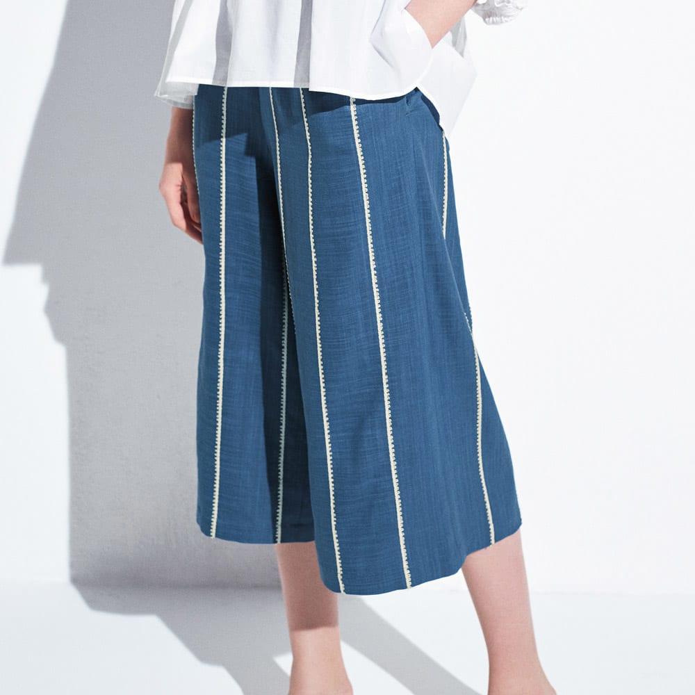 コードストライプ ストレッチパンツ 着用例 ※今回こちらのお色の販売はございません、参考画像です。