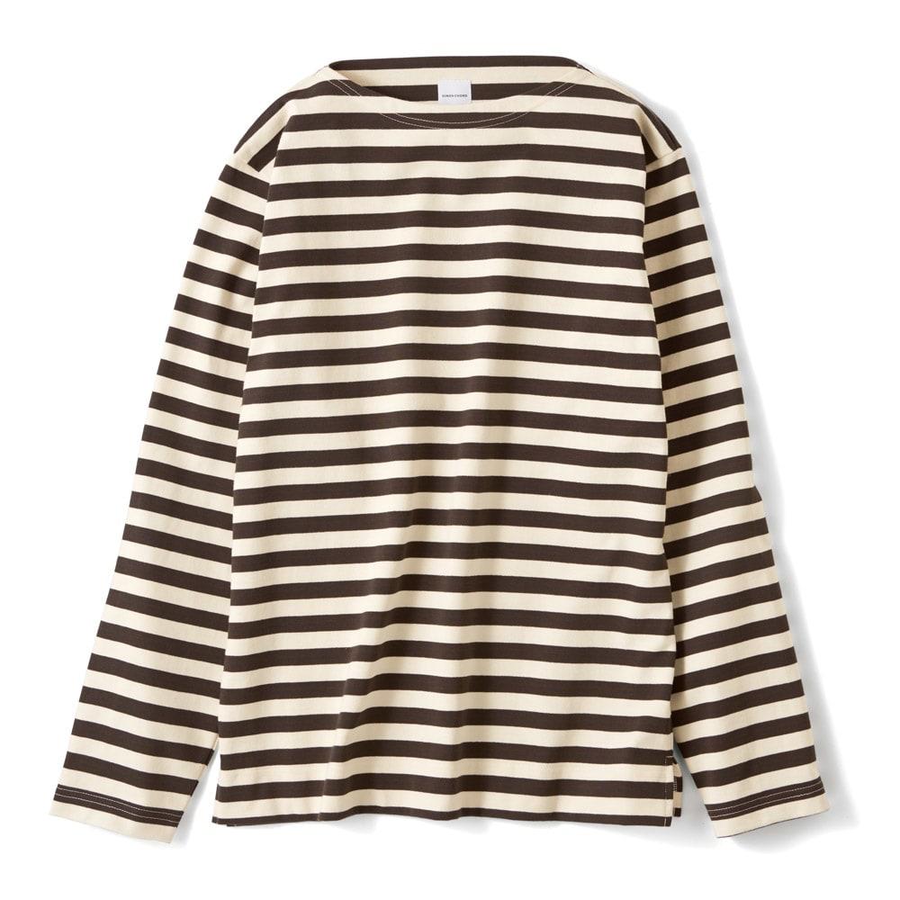 フランス「BUGIS」社 バスクシャツシリーズ ロングスリーブ (ウ)ブラウンボーダー