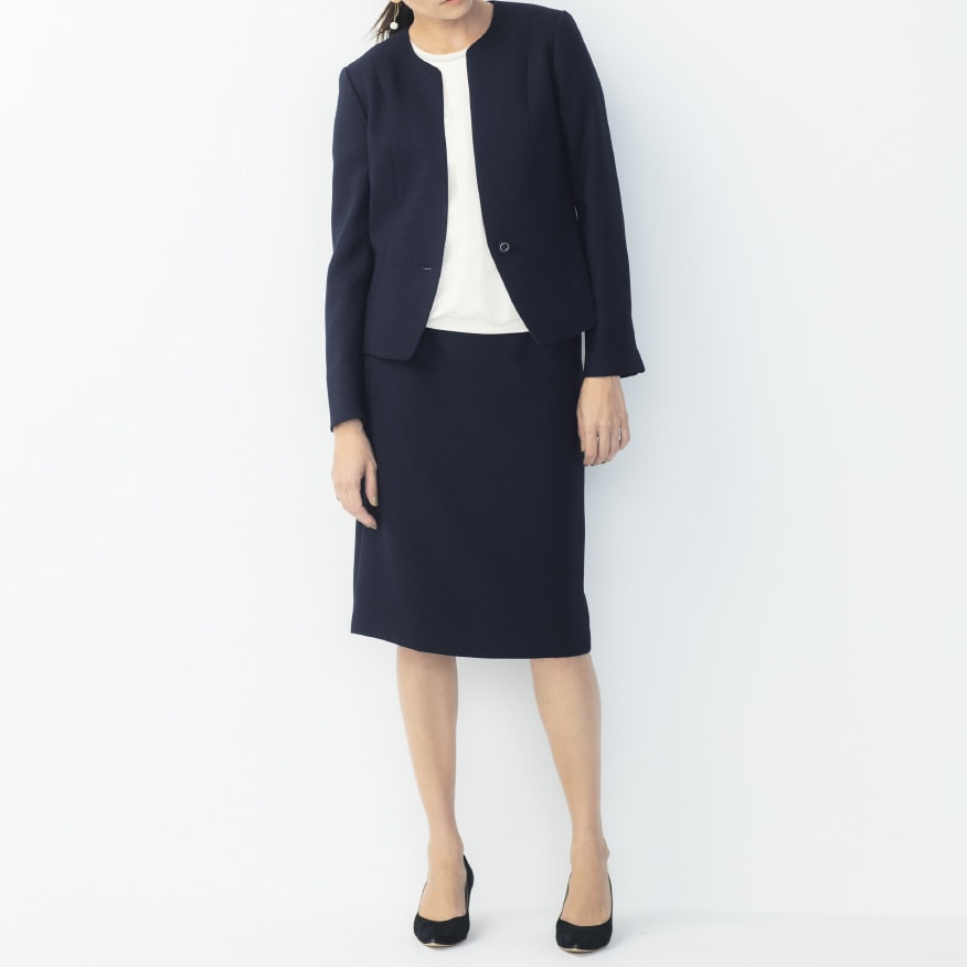 ハレの日3点セット ジャケット+スカート コーディネート例