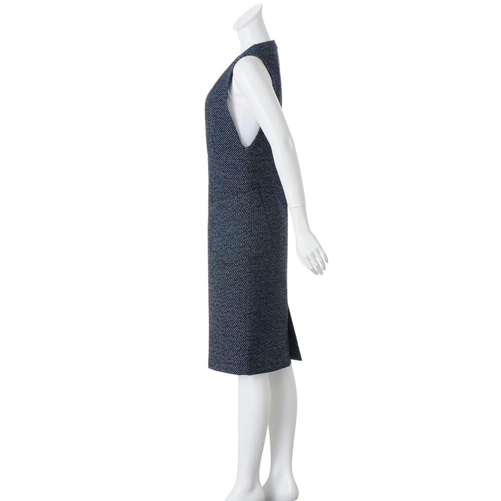 ツイード調 ジャージー ジャンパースカート ※インナーは含まれません。