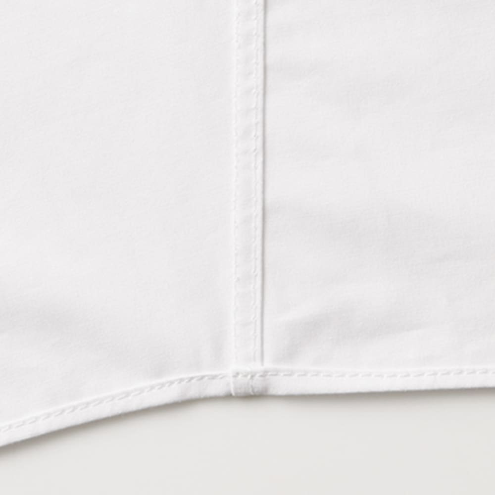 コットンブロード 比翼オーバーシャツ 内側の縫い代