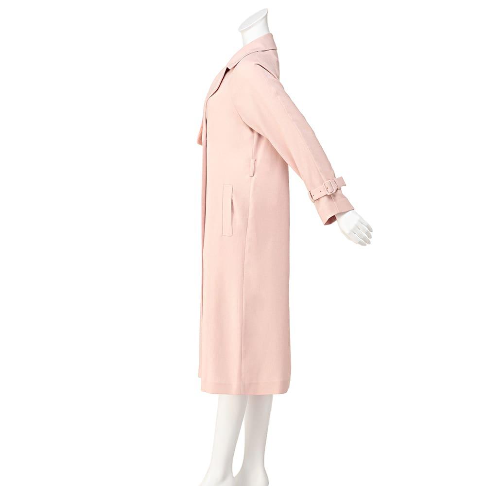 リネン調とろみコート