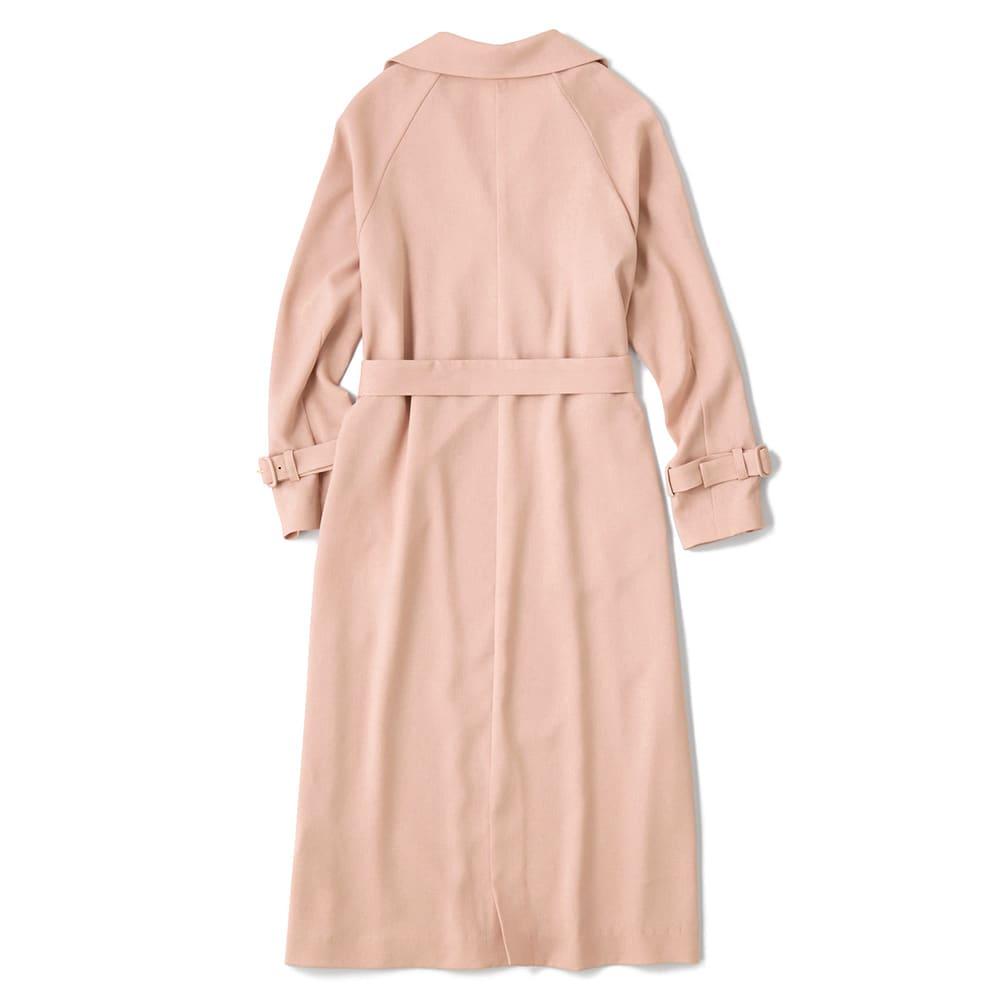 リネン調とろみコート Back Style