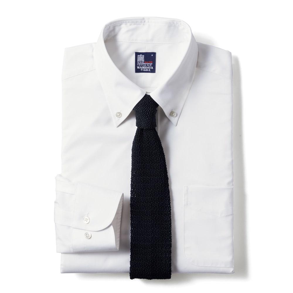 100番双糸 GIZAコットン ボタンダウン ワイシャツ(サイズ37-82) ホワイト ※ネクタイは含まれません。