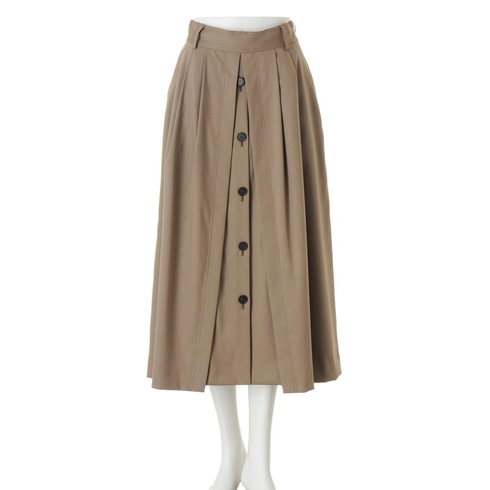 ボタンデザイン フレアースカート ベルトは取り外し可