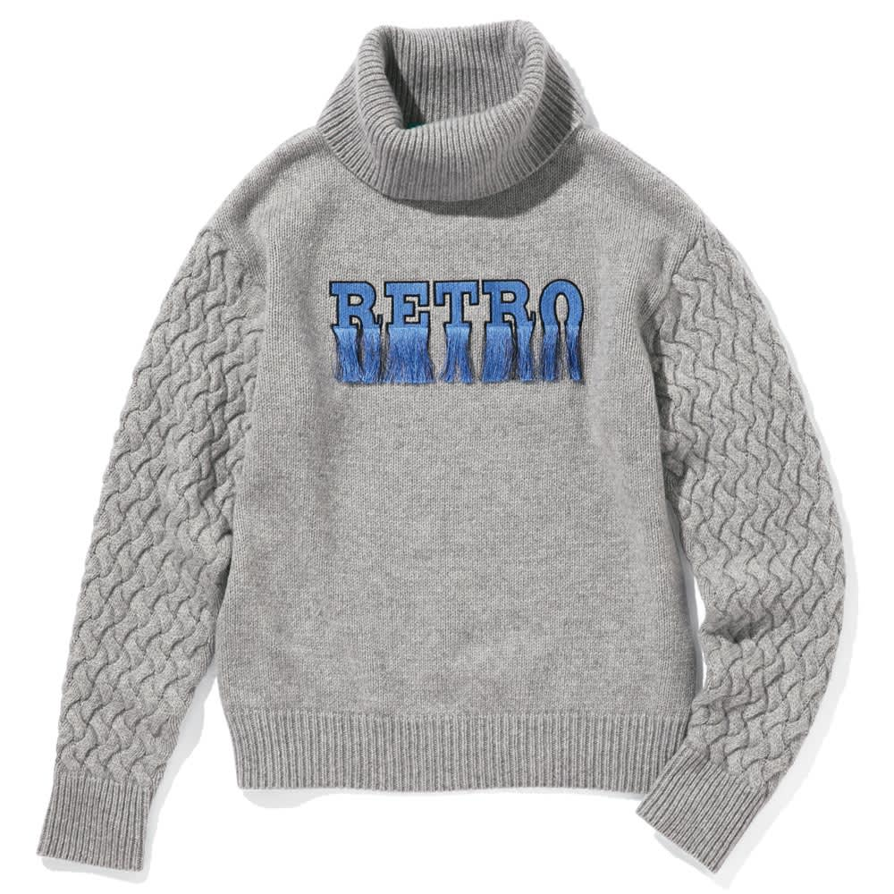 RETRO/レトロ ロゴニットプルオーバー