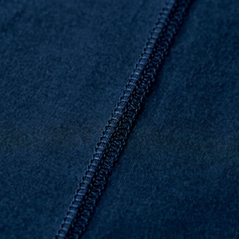 洗えるハイゲージコットンベア天竺シリーズ クルーネック 半袖 Tシャツ【2点以上で10%OFF】 ステッチ部分