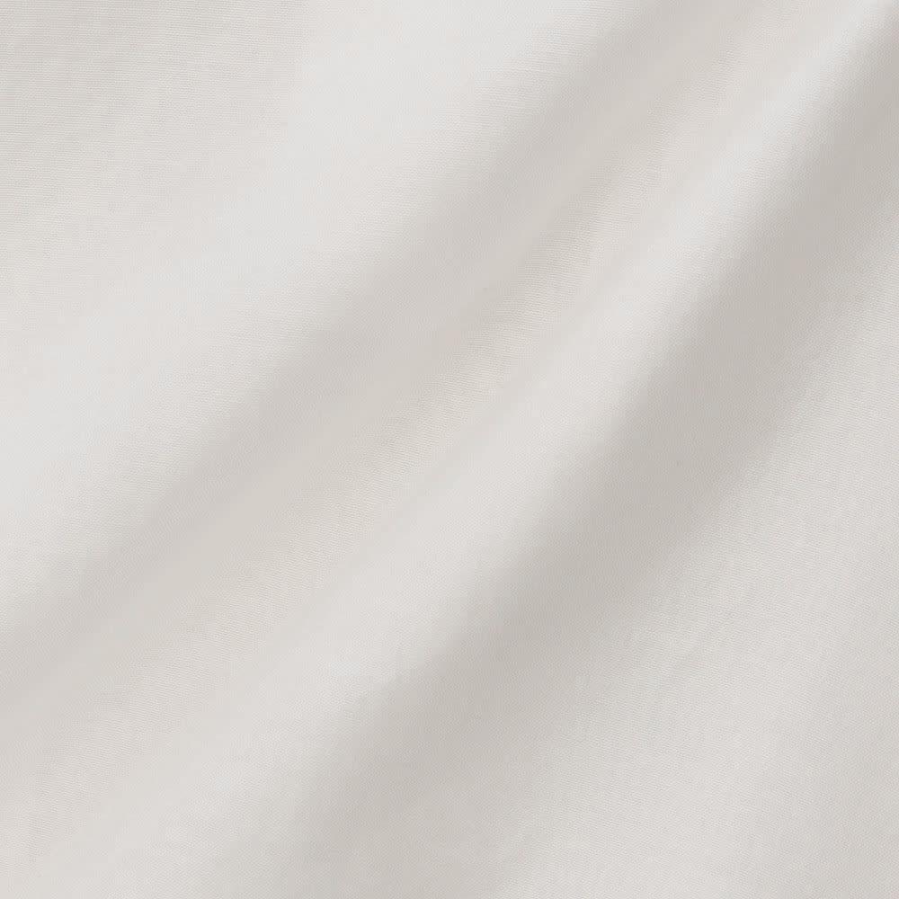 コットンシルク レース&ピンタック ブラウス (ア)ホワイト 生地アップ