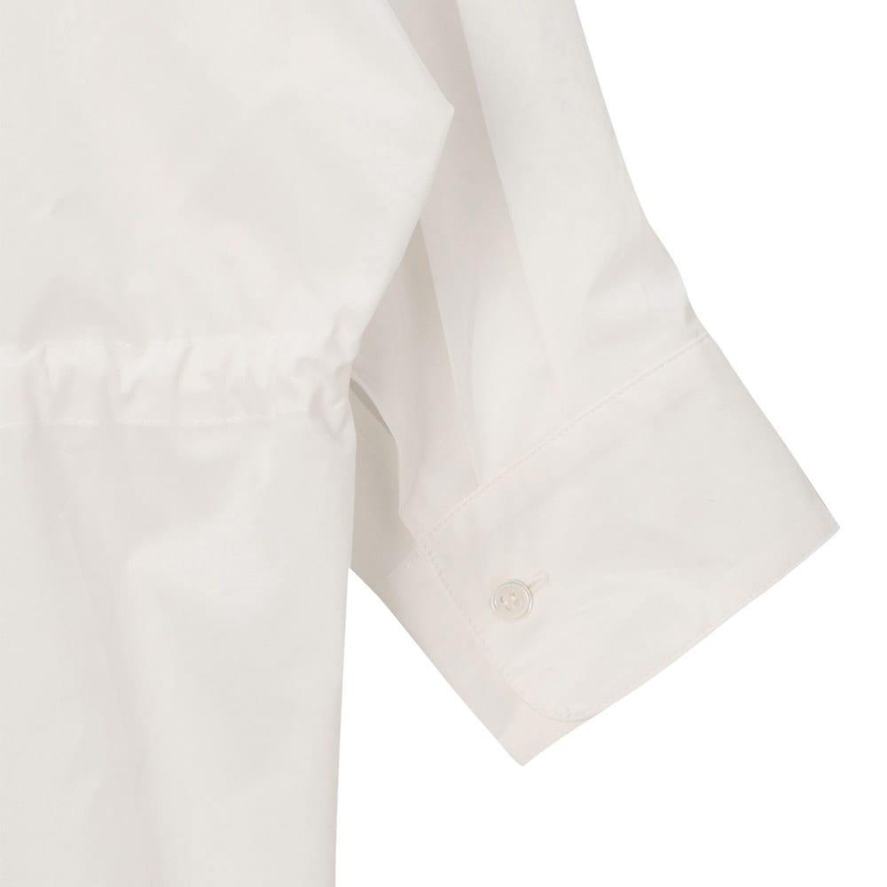 コットン ブロード スキッパーシャツ 袖口部分