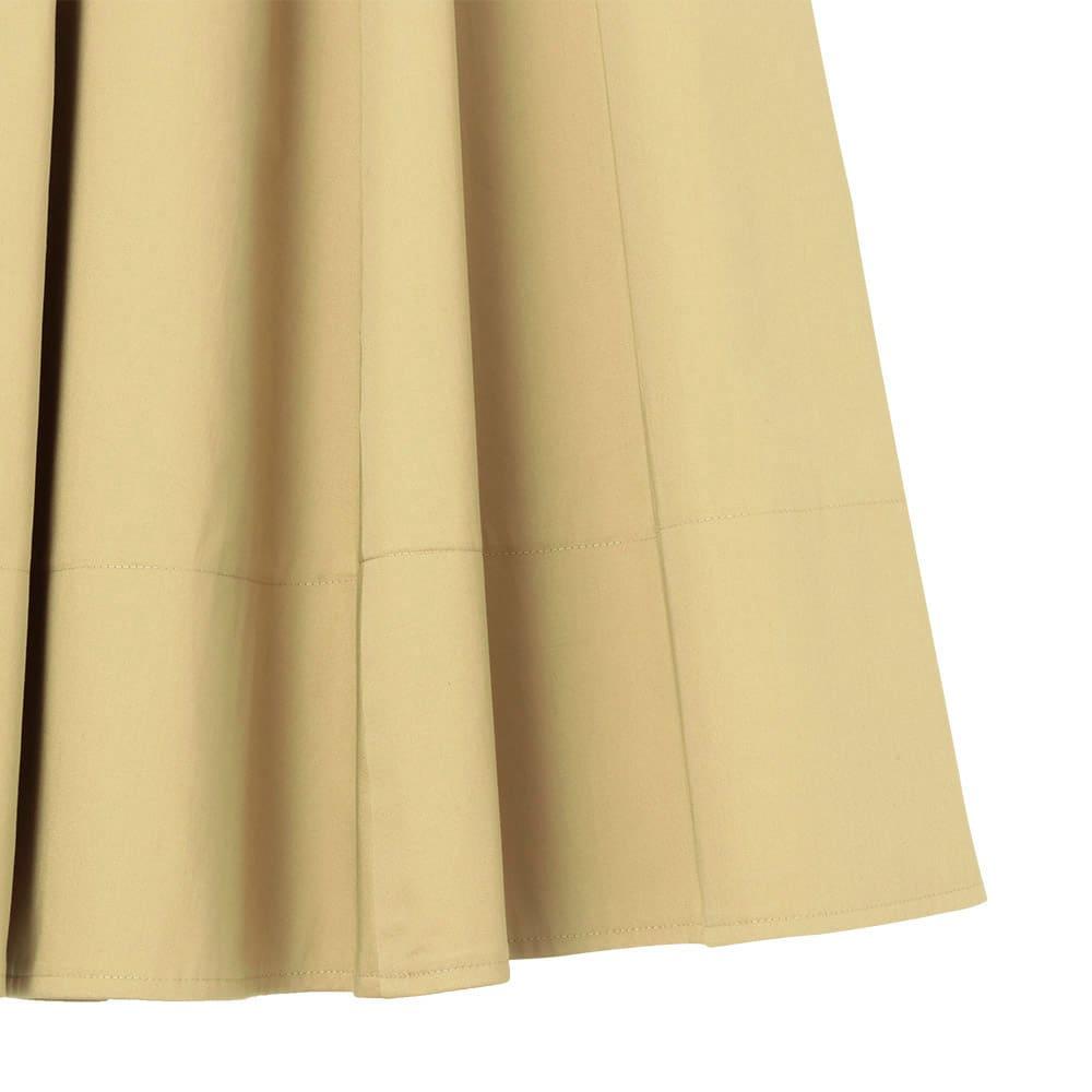 裾切替 ロングフレアースカート 裾部分