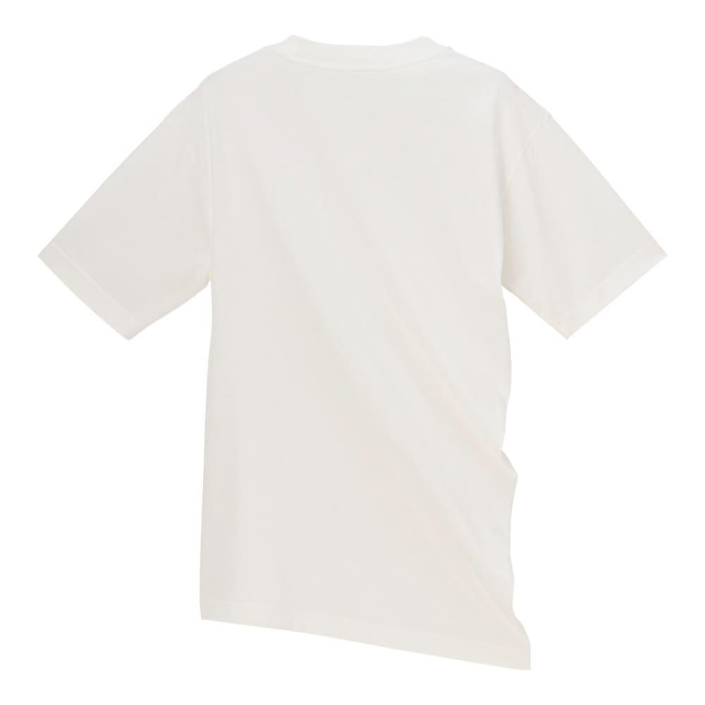 インド超長綿 テクノラマ ドレープ Tシャツ (ア)オフホワイト BACK
