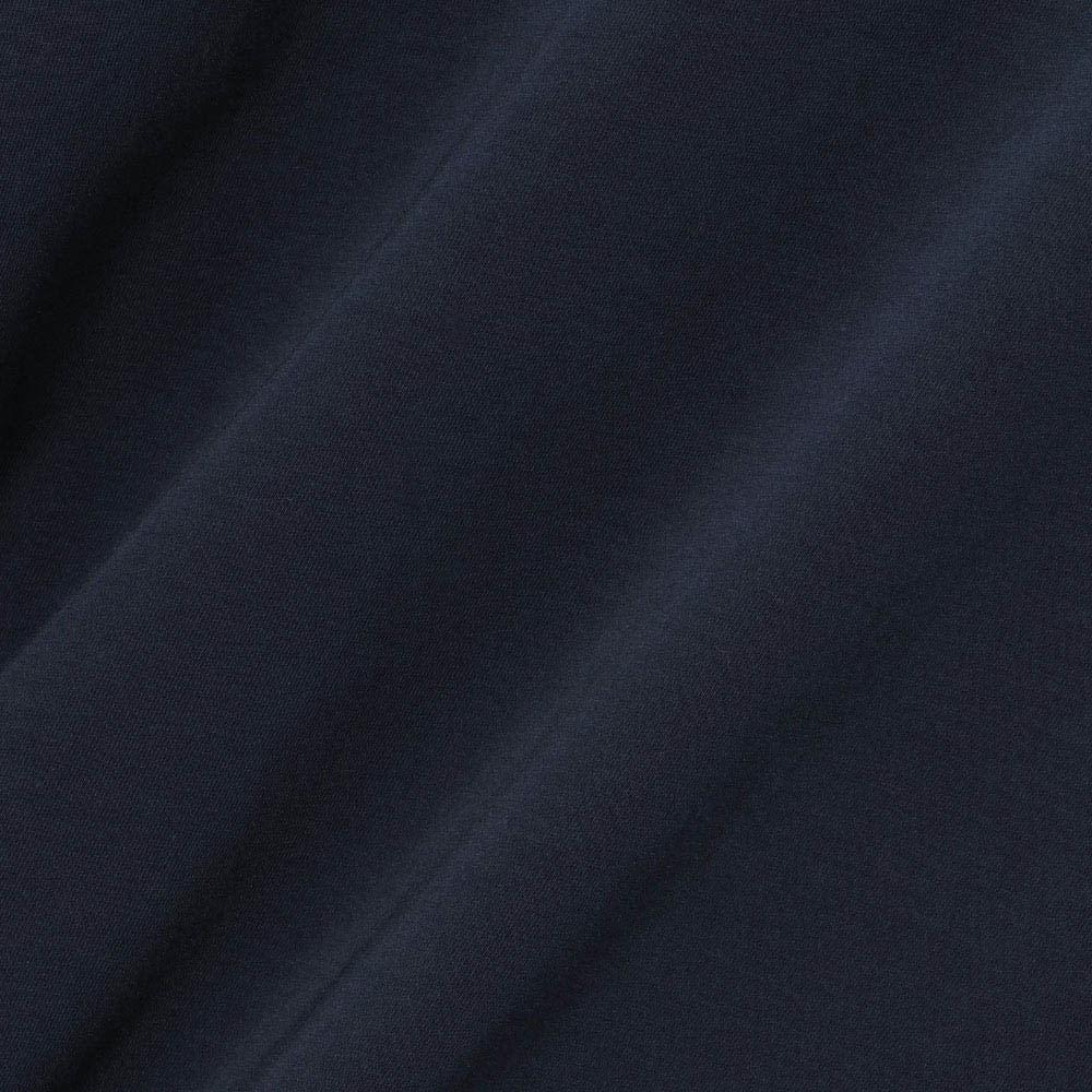 インド超長綿 テクノラマ ドレープ Tシャツ (イ)ネイビー 生地アップ