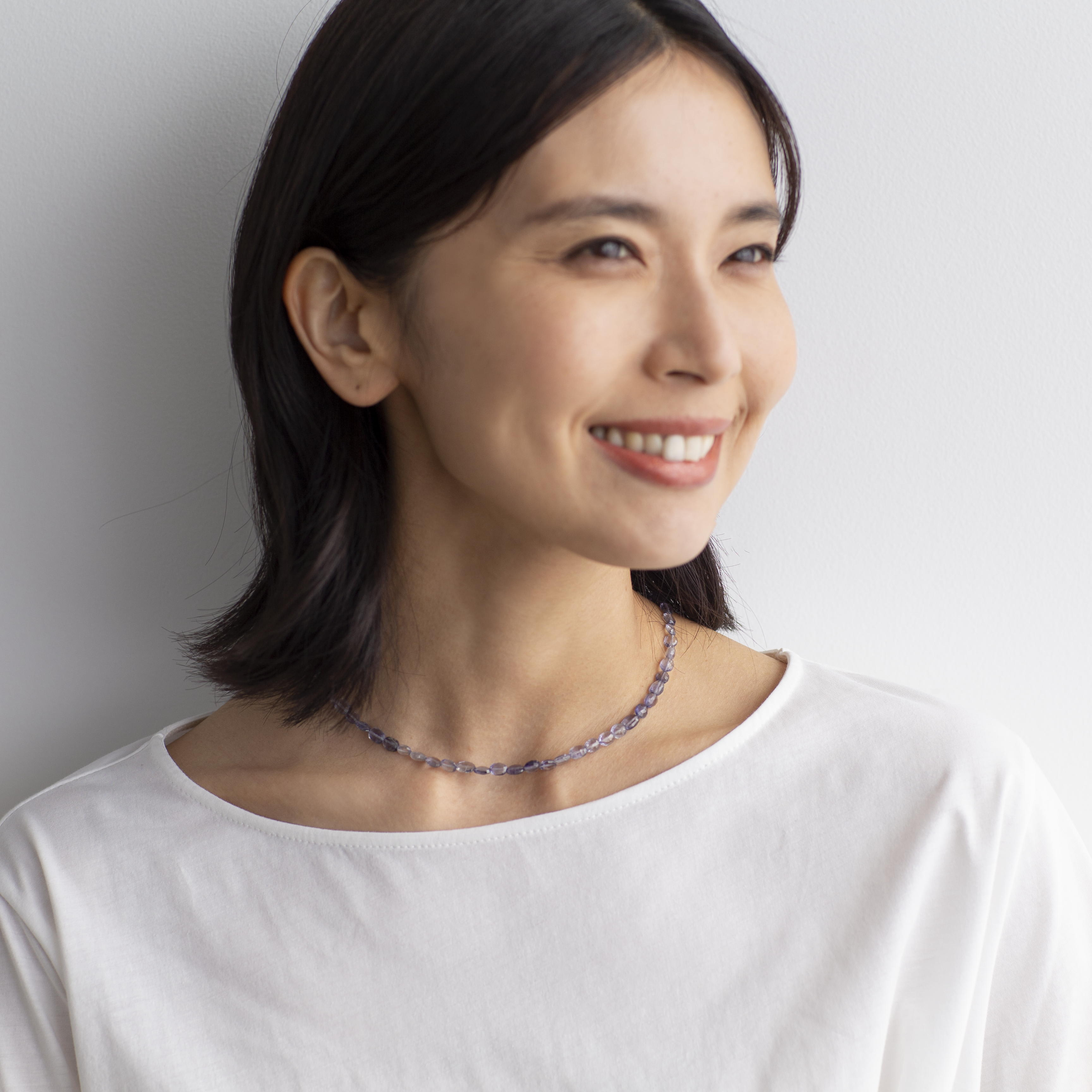 YUKIKO OKURA/ユキコ・オオクラ SV アイオライト ネックレス