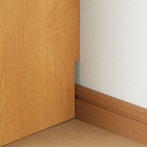 【レンタル仮申込】Pippi/ピッピ カウンター下収納庫 引き戸 幅90奥行23cm 【幅木カット】壁にぴったりとつけて設置できます。