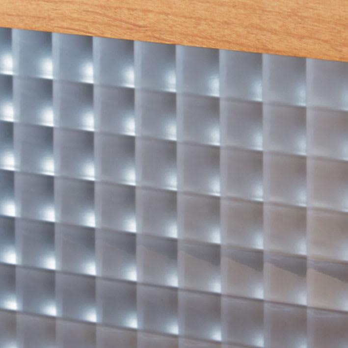 【レンタル仮申込】Pippi/ピッピ カウンター下収納庫 引き戸 幅120奥行23cm 【クロスガラス】美しい輝きで内部をほどよく目隠し。