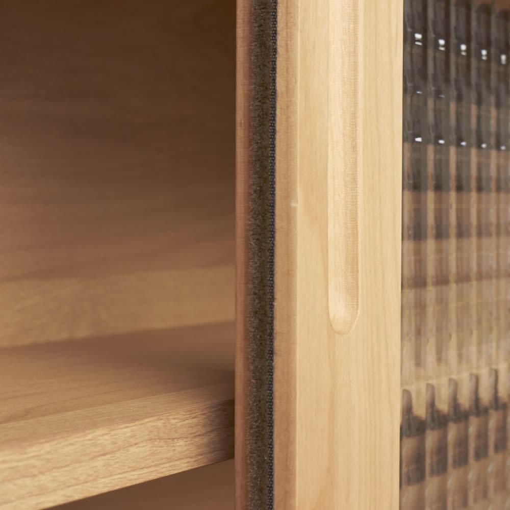 【レンタル仮申込】Pippi/ピッピ カウンター下収納庫 引き戸 幅150奥行23cm 扉部分時はほこりの侵入を防ぐ防塵テープつき。