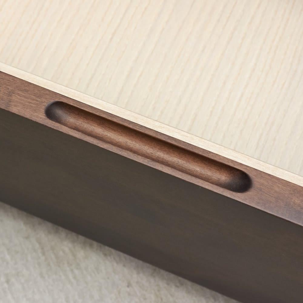 【レンタル仮申込】Pippi/ピッピ カウンター下収納庫 チェスト 幅45奥行32cm 取っ手はつかみやすい形状を選び、キッチンでのストレスを軽減。