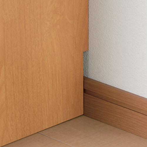 【レンタル仮申込】Pippi/ピッピ カウンター下収納庫 チェスト 幅45奥行32cm 【幅木カット】壁にぴったりとつけて設置できます。