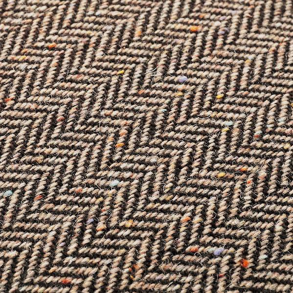 【レンタル商品】ツイード調ソファベッド 幅188cm モカブラウンの生地アップ