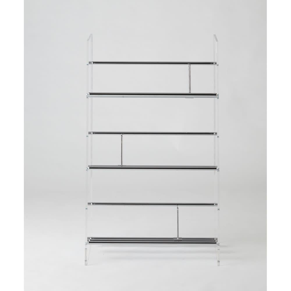 【レンタル商品】Lumiere/ルミエル クリアブックシェルフ 幅62cm