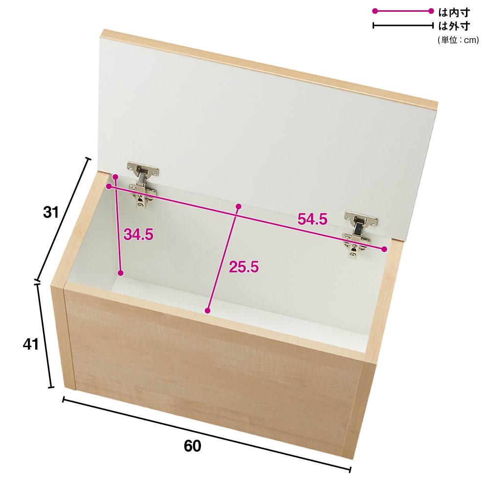 【レンタル商品】耐荷重100kg!収納庫付ベンチ ボックス・幅60奥行31cm