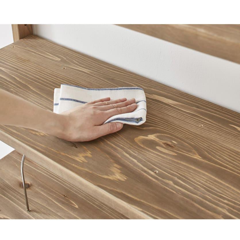 【レンタル商品】国産杉頑丈ディスプレイ本棚(ヴィンテージ風ラック) 幅60cm 引き出しタイプ (イ)ダークブラウン ウレタン塗装なのでお手入れ簡単です。