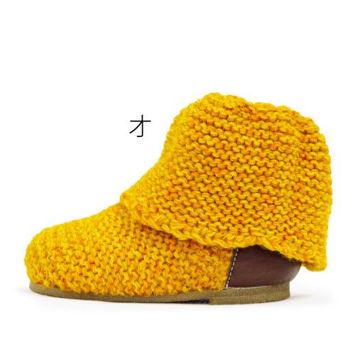 日本製ベビーニットブーツ(12-14cm)/神戸ブランドKEIKA オ:マーブルオレンジ