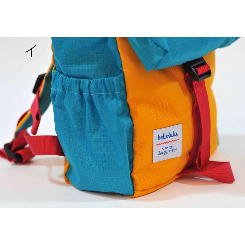 バックパック ライナス[ハロルル/hellolulu] ペットボトル・水筒が入るサイズのサイドポケット