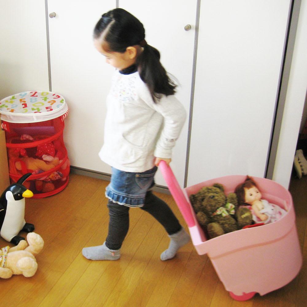 キャスター付おもちゃボックス (ア)使用イメージ