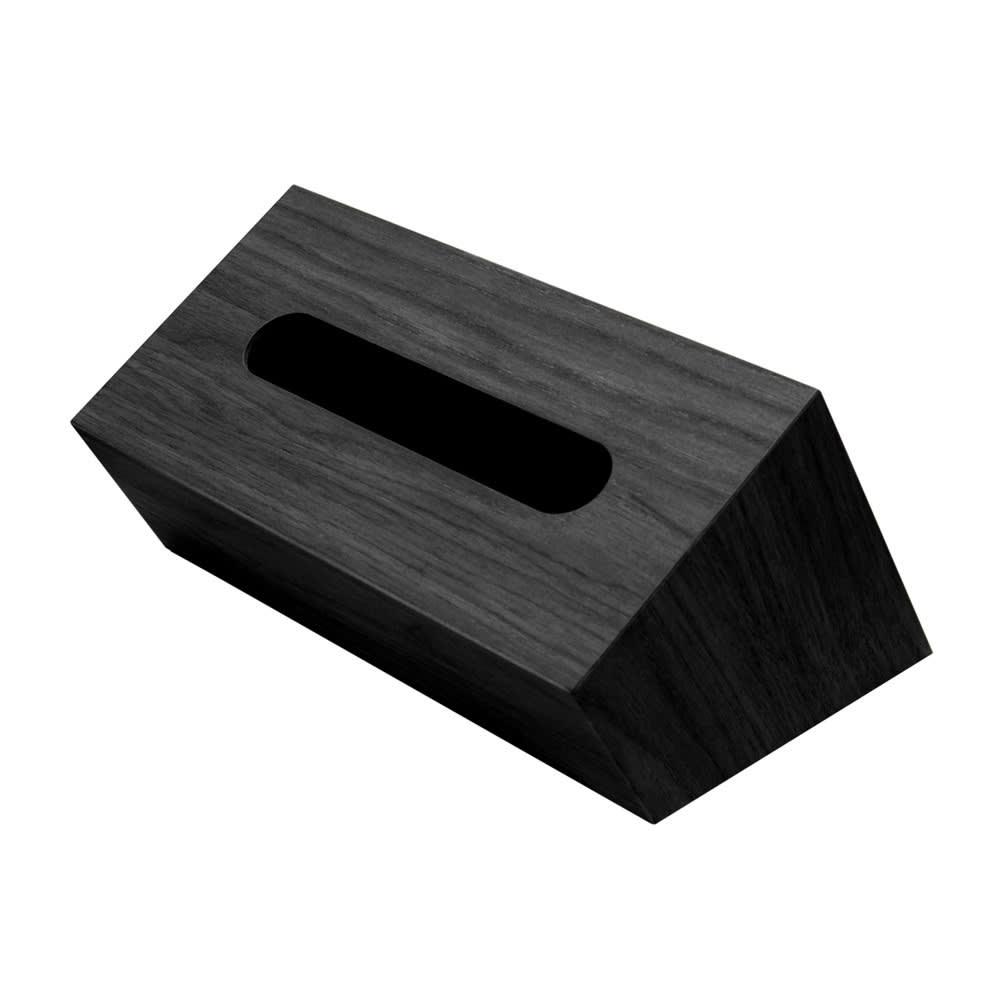 バスク 小物収納できるティッシュボックス/ティッシュケース  (ウ)ブラック