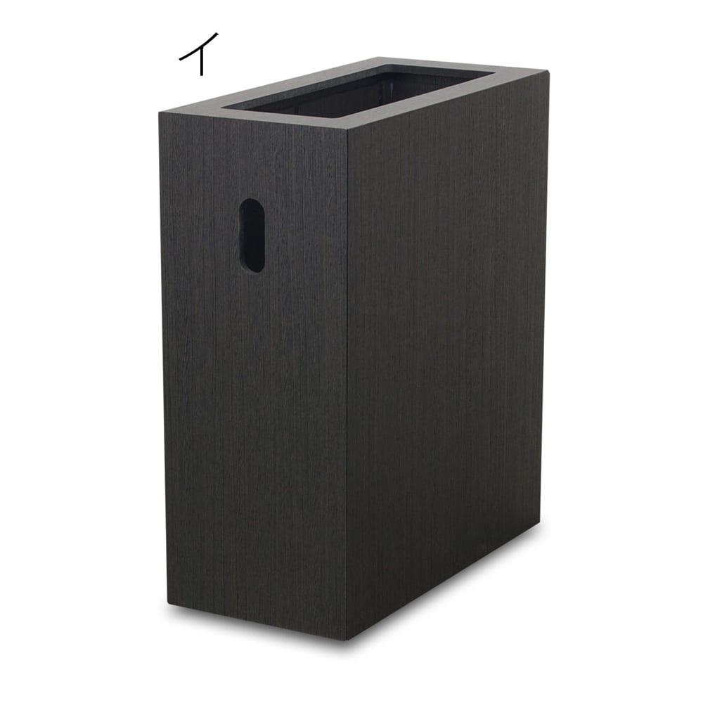 バスク スライド式ダストボックス/ゴミ箱 イ:ブラック