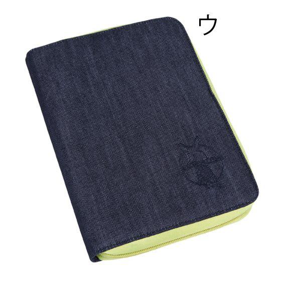 Laessig(レッシグ)/グリーンレーベル ドキュメントポーチ(母子手帳ケース) (ウ)デニムブルー