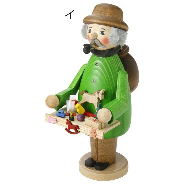 ドイツ製手作りミニパイプ人形 おもちゃ売り[kuhnert/クーネルト] (イ)グリーン