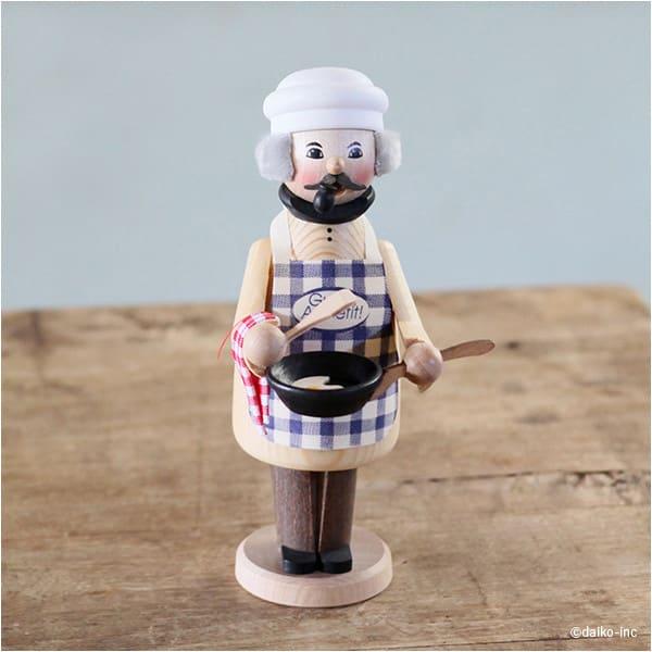 ドイツ製手作りミニパイプ人形 コック[kuhnert/クーネルト]