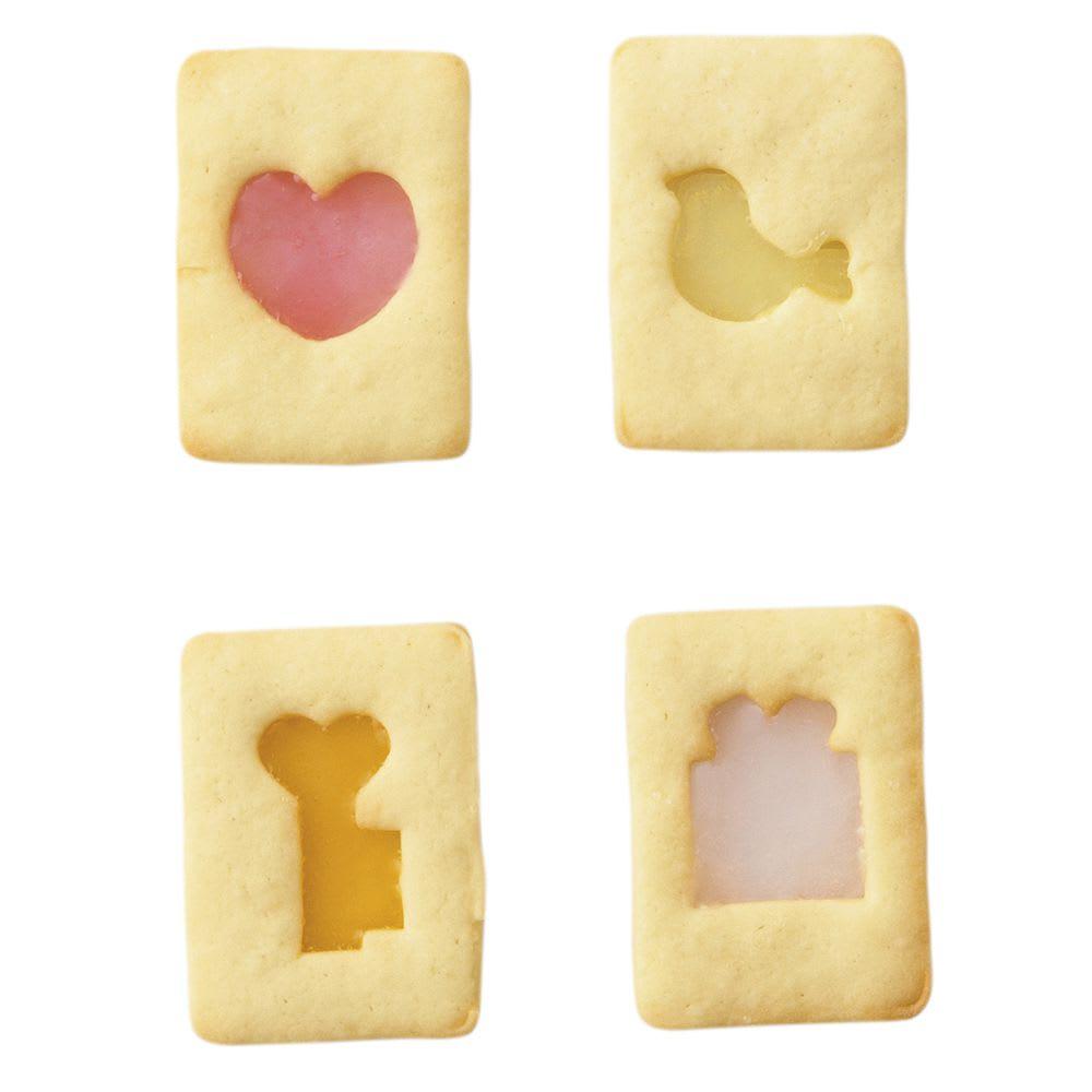 ステンドグラスクッキー型セット ※使用イメージ…ステンドグラスクッキー型/ガーリー