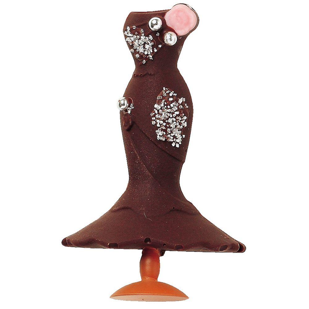 チョコ型トレーセット ジュエリー&ドレス&ハット ※使用イメージ…ドレス型