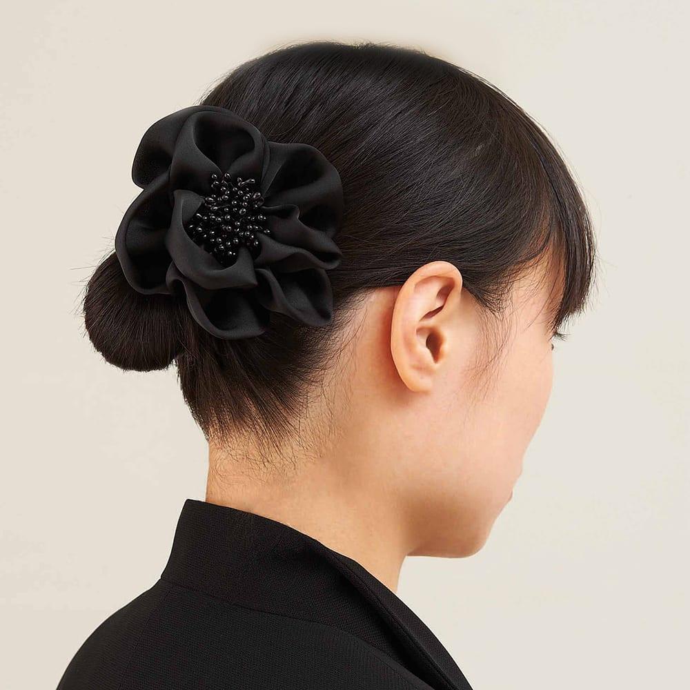 使いやすいフォーマルジャカードバッグ| 結婚式・法事・卒業式・入学式・パーティー コサージュは髪飾りなどにも