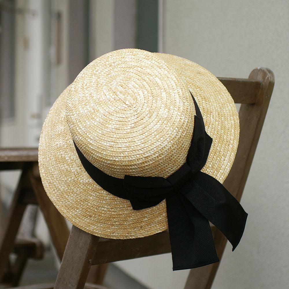 田中帽子店/麦わら帽子 アデル(Adele)レディース