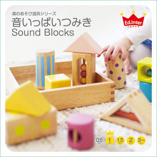 Ed・Inter(エド・インター)/音いっぱいつみき|おもちゃ・知育玩具