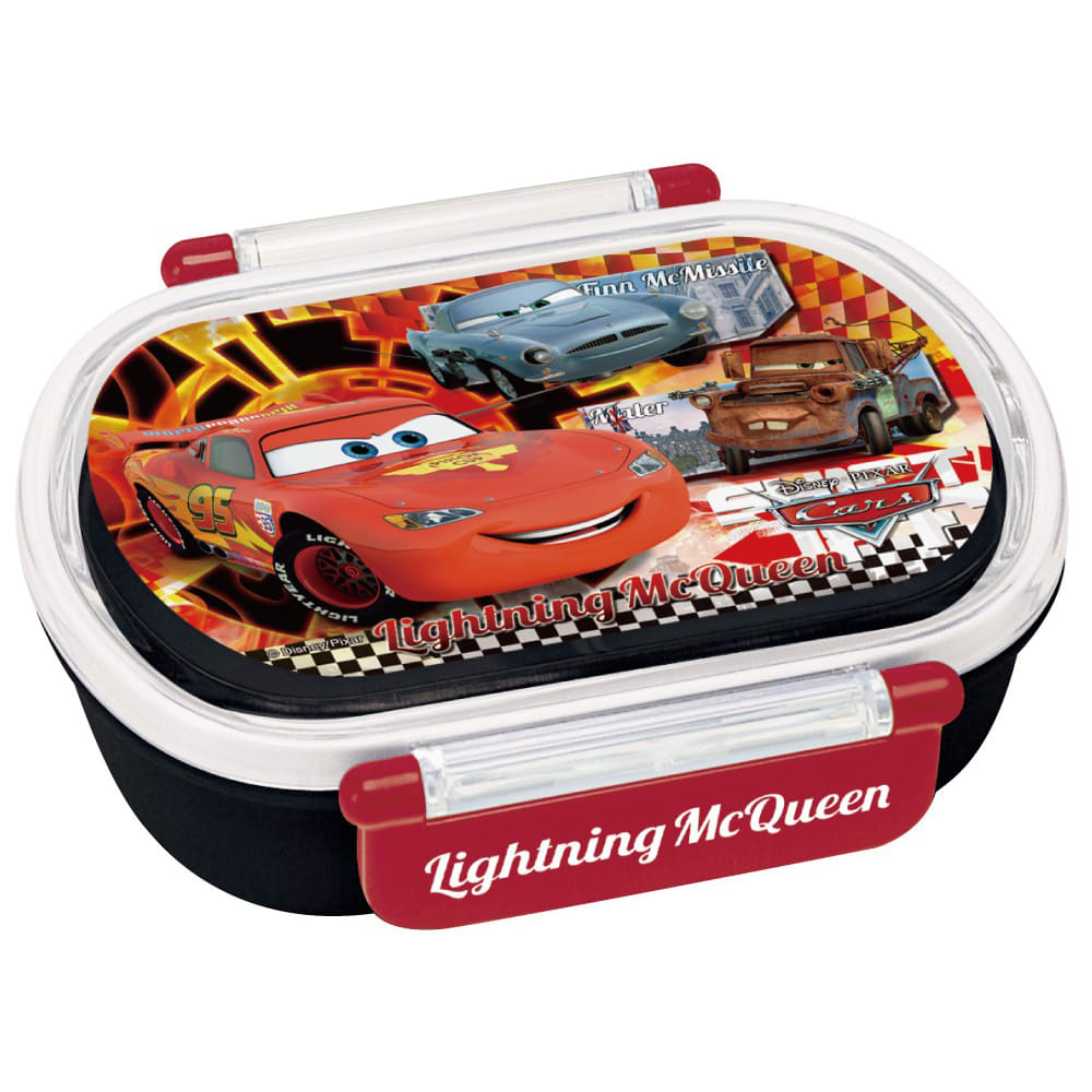 ディズニー カーズタイトランチ3点セット タイトランチボックスは、密閉性が高い小判型でお子様でも使いやすい開閉。