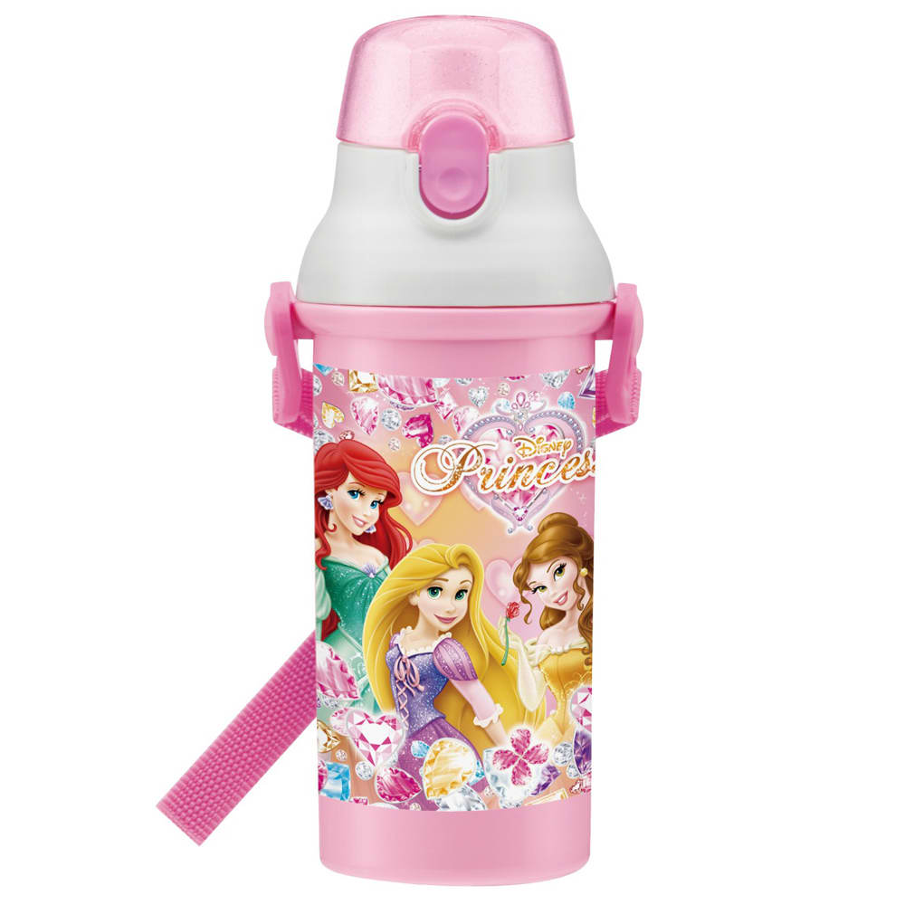 ディズニープリンセス ランチボックス 3点セット 直飲みボトルは、食器洗乾燥機対応でキャップを開けてすぐ飲めるダイレクト飲み口。