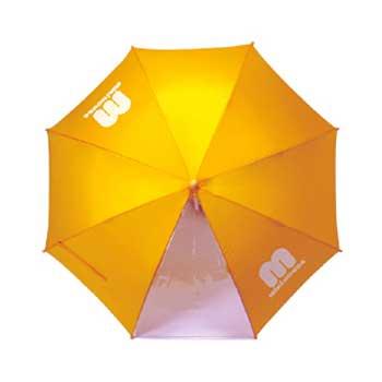 miki HOUSE(ミキハウス)/ワンポイント ロゴ入り傘 かさ生地の一部が透明なので視界が広がります