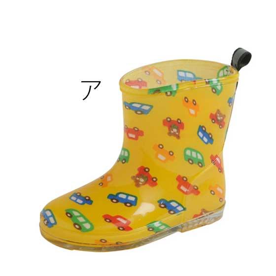 miki HOUSE(ミキハウス)/車プッチー&お花うさこ レインブーツ(13~18cm)|長靴 ア:黄