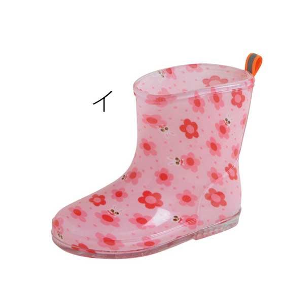 miki HOUSE(ミキハウス)/車プッチー&お花うさこ レインブーツ(13~18cm)|長靴 イ:ピンク