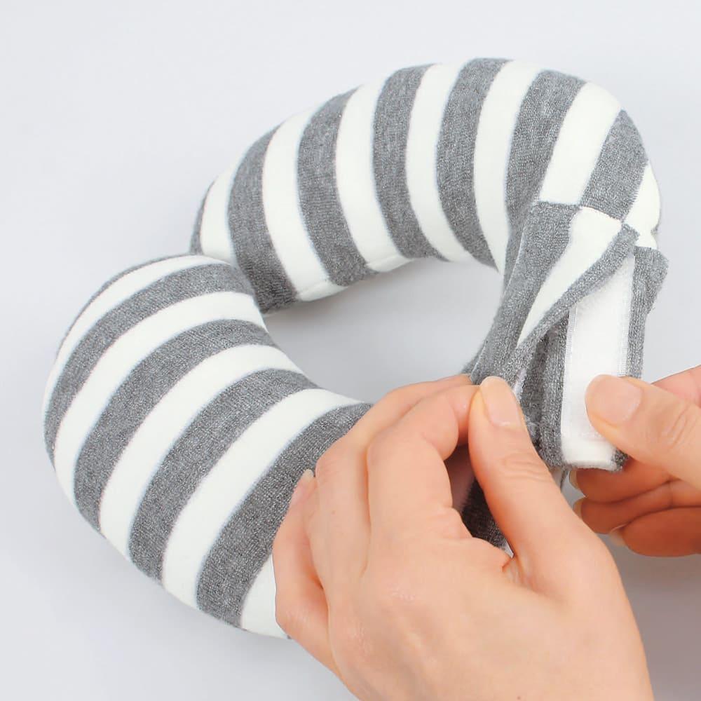 セパレーターサポートクッション ねこみみ 分けて使う場合は面ファスナーをポケットに入れてからご使用ください。