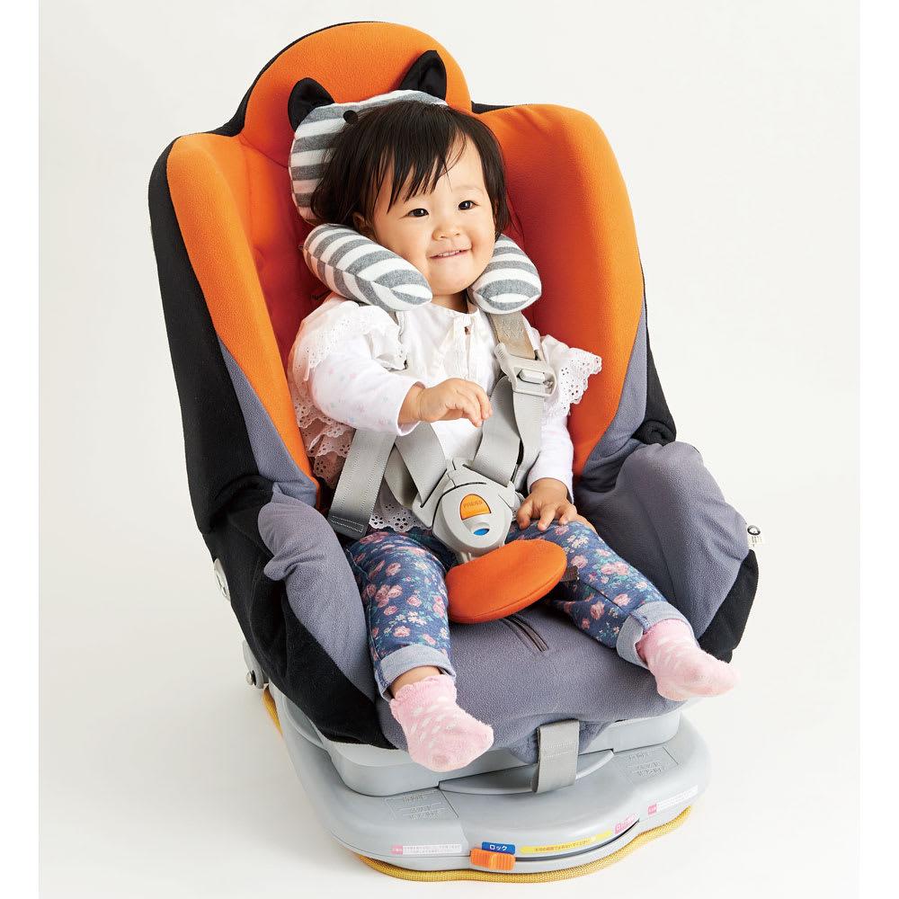 セパレーターサポートクッション ねこみみ 長時間のドライブ時に!チャイルドシートやベビーカーでのおでかけに。