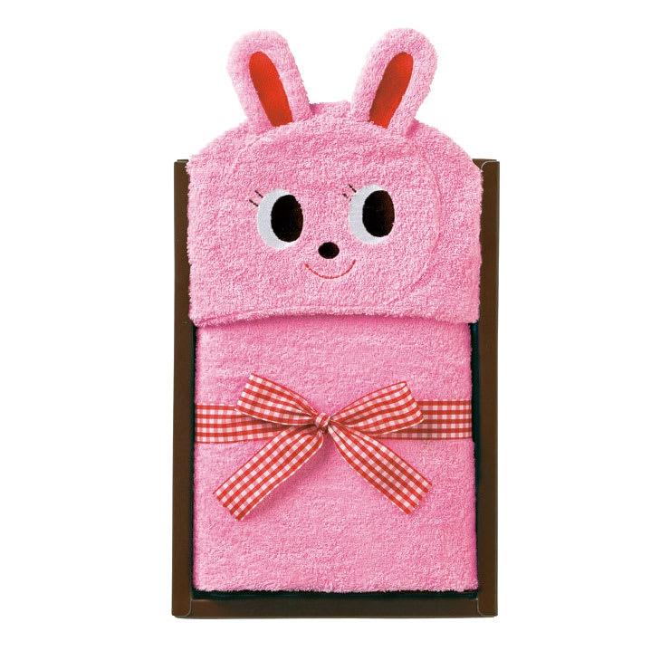 miki HOUSE(ミキハウス)/フード付きバスタオル|ベビー (イ)ピンク